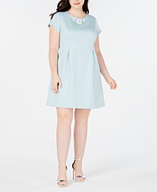Trendy Plus Size Embellished Fit & Flare Dress