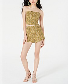 Juniors' Printed Ruffle-Trimmed Crop Top, Created for Macy's