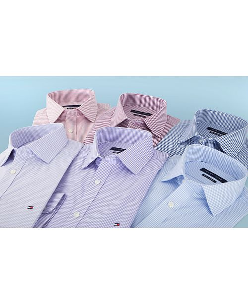 Tommy Hilfiger Men's Slim-Fit Stretch Check Dress Shirt