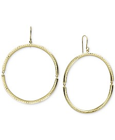 Argento Vivo Open Circle Drop Earrings in Gold-Plated Sterling Silver