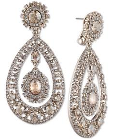 3c07ba87a Marchesa Crystal Filigree Chandelier Earrings