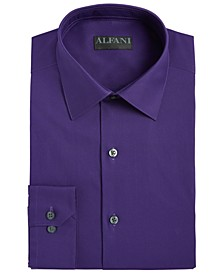Alfani Men's AlfaTech Classic/Regular-Fit Performance Stretch Moisture-Wicking Wrinkle-Resistant Solid Dress Shirt, Created for Macy's