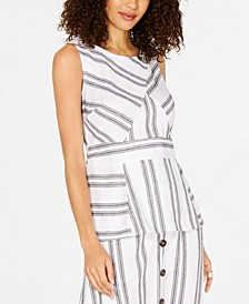Striped Peplum Top, Created for Macy's
