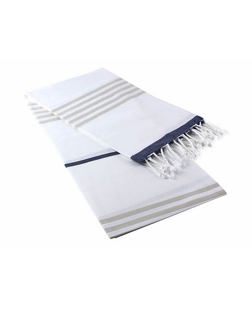 Enchante Home Okyanus Pestemal Fouta Turkish Cotton Beach Towel
