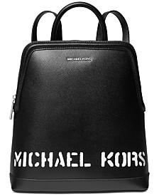 MICHAEL Michael Kors Saylor Crossgrain Leather Backpack