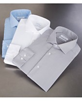b862e7bb4ffd Calvin Klein Men's STEEL Slim-Fit Non-Iron Stretch Performance Dress Shirt