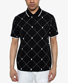 Sean John Men's Playboy Collection Printed Polo