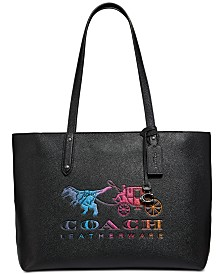 COACH Central Leather Tote With Rexy And Carriage