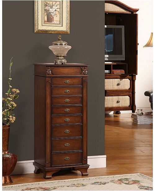 Nathan Direct Maldives 8-Drawer Jewelry Armoire