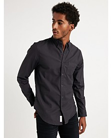 Lucky Brand Men's Stretch Oxford Pocket Shirt