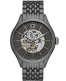 Mens Gunmetal Bracelet Automatic Watch 46mm