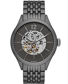 Folio Mens Gunmetal Bracelet Automatic Watch 46mm