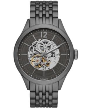 Mens Gunmetal Bracelet Automatic Watch 46mm