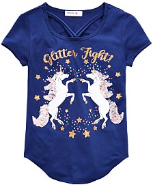 Beautees Big Girls Unicorn-Print Top