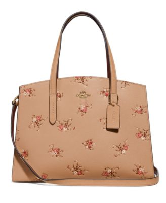 Floral Print Leather Charlie Carryall