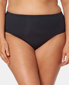Bleu by Rod Beattie Plus Size High-Waist Bikini Bottoms