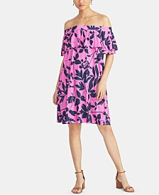 RACHEL Rachel Roy Libby Ruffled Off-The-Shoulder Dress