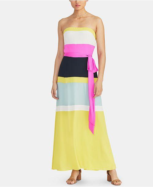 RACHEL Rachel Roy Laurel Colorblocked Maxi Dress