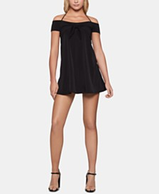 BCBGeneration Knot-Front Off-The-Shoulder Dress