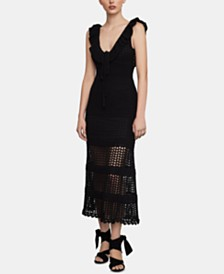 BCBGMAXAZRIA Crochet Midi Dress