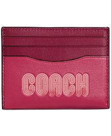 COACH Logo Print Leather Card Case