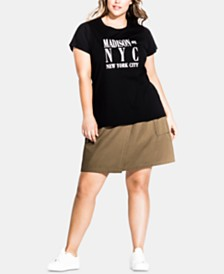 City Chic Trendy Plus Size NYC T-Shirt