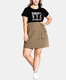 Trendy Plus Size Cotton Wrap Skirt