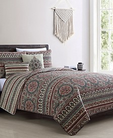 Menkis 5PC Full/Queen Quilt Set