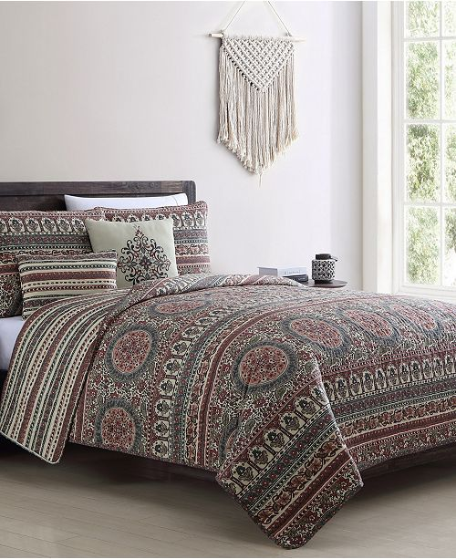 VCNY Home Menkis 5PC Full/Queen Quilt Set