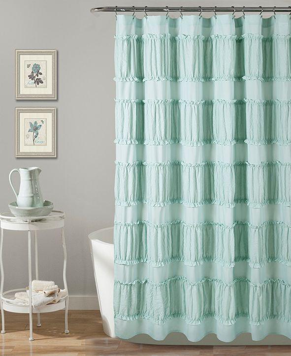 """Lush Decor Nova Ruffle 72"""" x 72"""" Shower Curtain"""