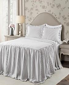 Ticking Stripe 3Pc Full Bedspread Set