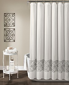 "Scroll Medallion 72"" x 72"" Shower Curtain"