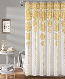"Stripe Medallion 72"" x 72"" Shower Curtain"