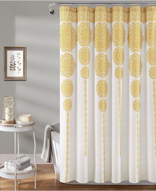 "Lush Decor Medallion Stripe 72""x 72"" Shower Curtain"