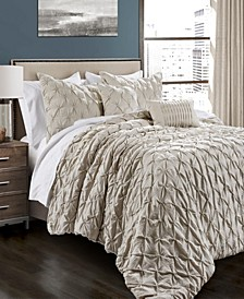 Ravello Pintuck 5-Piece Full/Queen Comforter Set