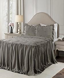 Ravello Pintuck Ruffle Skirt 2Pc Twin Bedspread Set