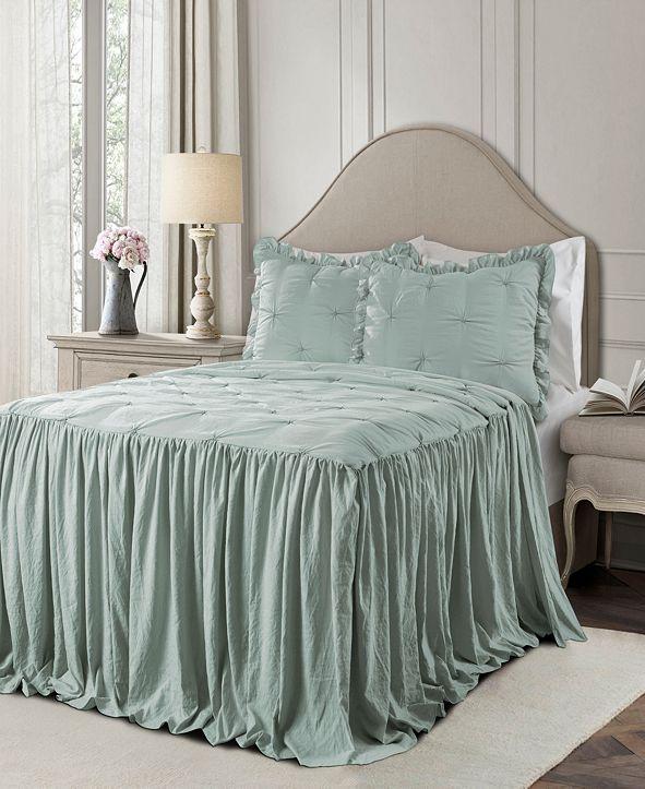 Lush Decor Ravello Pintuck Ruffle Skirt 3Pc King Bedspread Set