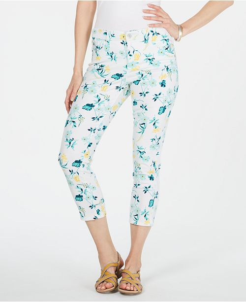 Charter Club Bristol Capri Printed Jeans, Created for Macy's