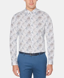 Perry Ellis Men's Micro Floral-Print Shirt