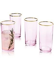 CLOSEOUT! Blush Highball Glasses, Set of 4, Created for Macy's
