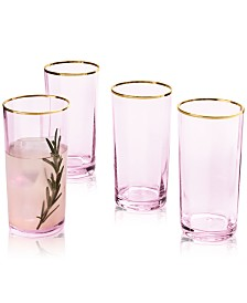 Martha Stewart Collection Blush Highball Glasses, Set of 4, Created for Macy's