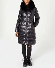 1 Madison Expedition Fox-Fur-Collar Down Puffer Coat