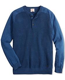 Men's Textured Henley Sweater