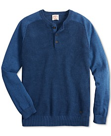Brooks Brothers Men's Textured Henley Sweater