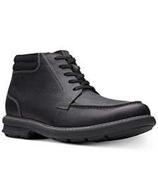 Men's Rendell Rise Black Leather Casual Boots