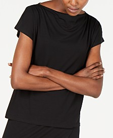 Eileen Fisher Super-Soft Cowlneck T-Shirt