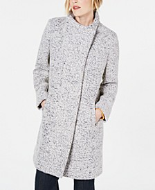 Asymmetrical Bouclé Walker Coat