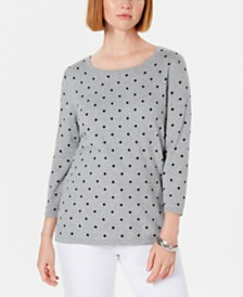 Karen Scott Dot Dream Sweater, Created for Macy's