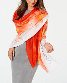 Calvin Klein Ombré Daisy Pareo Wrap