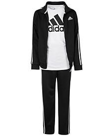 Big Boys Iconic Tricot Jacket, Pants & Logo T-Shirt Separates